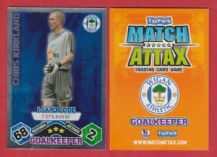 Wigan Athletic Chris Kirkland Foil i Card